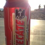 Tecate on the beach (Woody's)