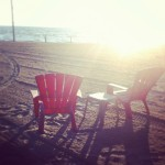 Seats on the beach (Woody's)