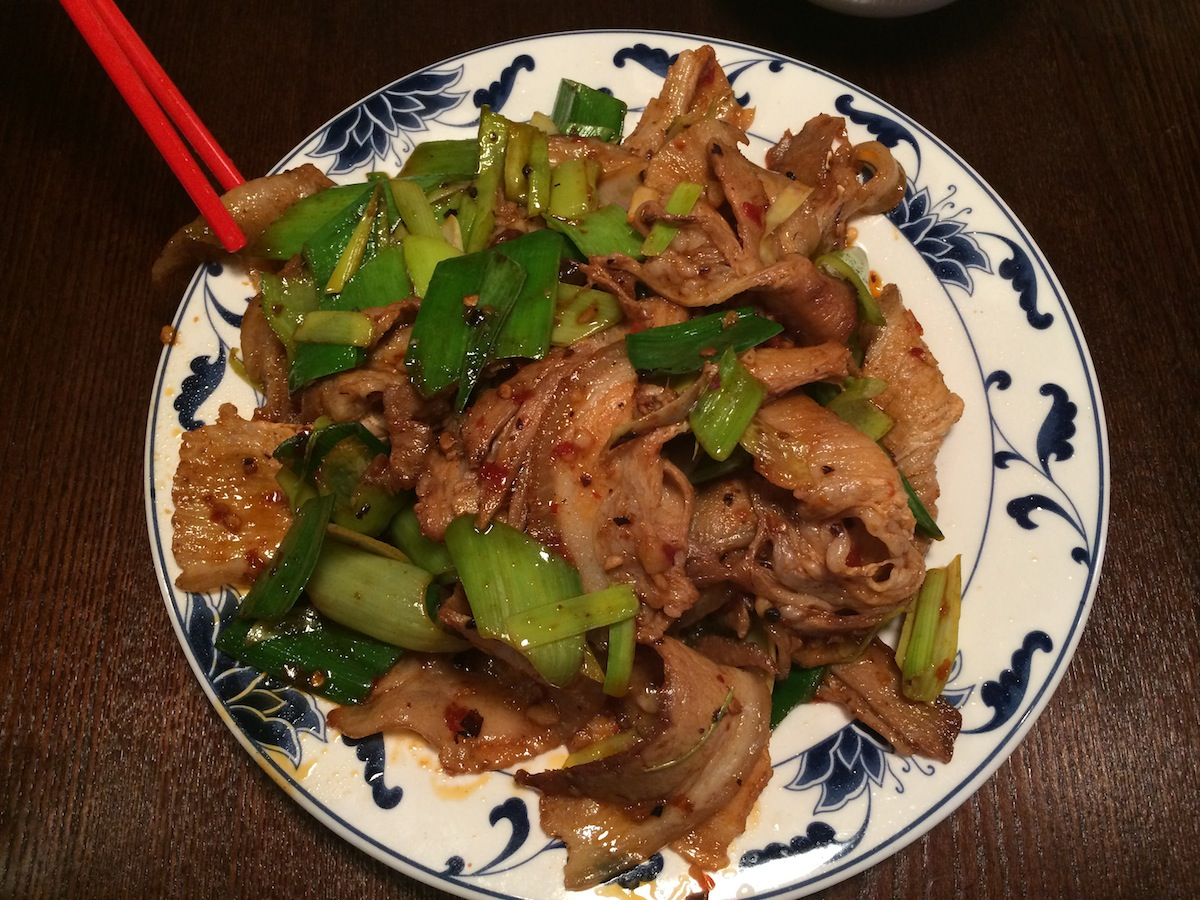 Double Cooked Pork at 80 China Cafe