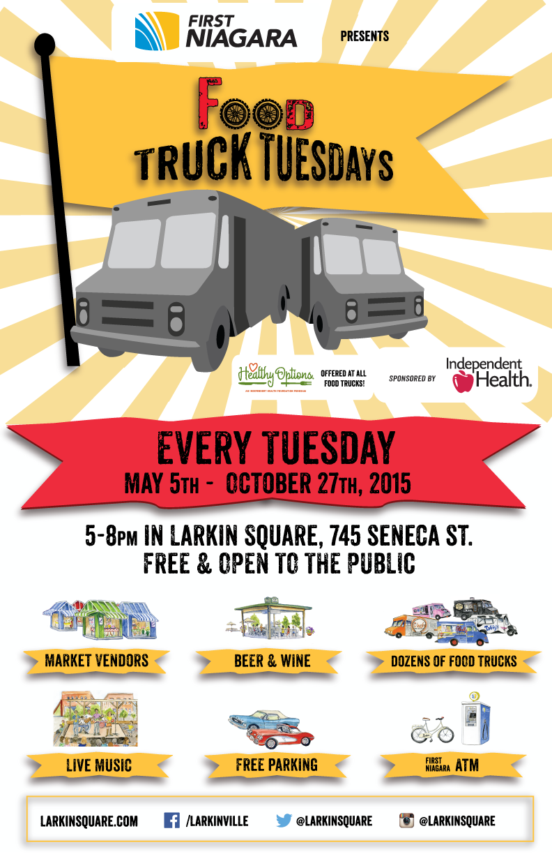 Food Truck Tuesdays 2015 poster