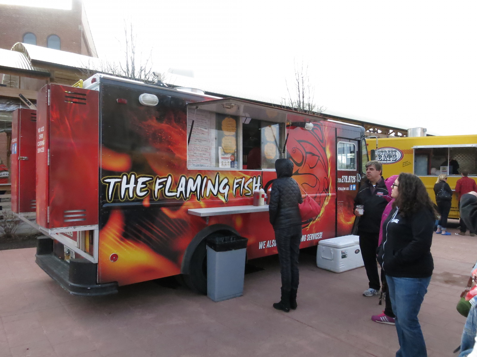 The flaming fish buffalo eats for Flaming fish food truck