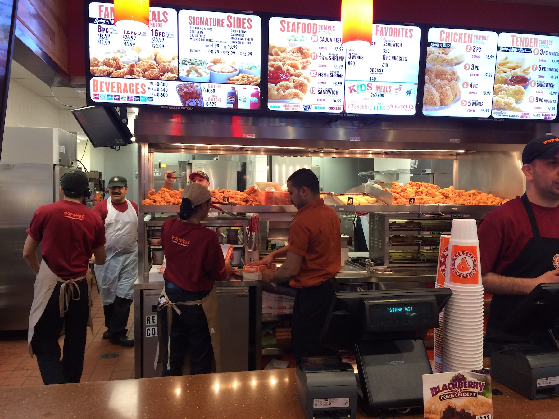 The Menu/Counter (Popeyes)